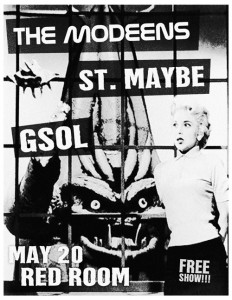 The Modeens @ Red Room on May 20th with Saint Maybe and GSOL