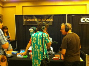 Mitch Easter at the Chamber of Sounds booth - PotLuckCon 2012