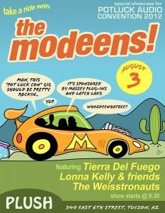 The Modeens headline the PotluckCon Showcase @ PLUSH Aug 3rd