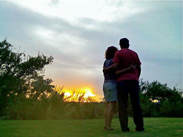Sunset couple at Sunset Pointe