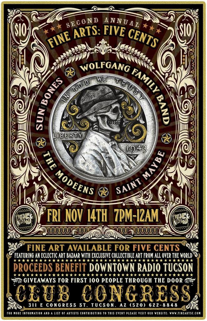 Fine Art :: Five Cents poster by Jimi Gianatti